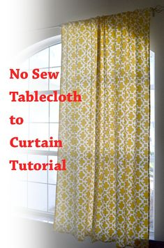 No Sew Curtain Tutorial by Poofy Cheeks