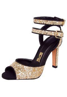 Sandália Santa Lolla 2 Pulseiras Glitter Preta - Compre Agora | Dafiti Brasil