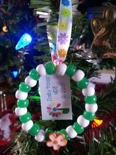Daisy girl scout swap or Christmas ornament
