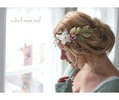 Hochzeitskranz Haarkranz Brautkranz *Pearl* von Julmond auf DaWanda.com