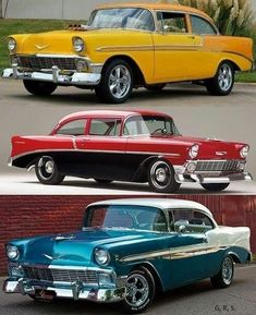 Cool looking cars Brought to you by agents of car insurance . - My list of the best classic cars Chevy Classic, Best Classic Cars, Ford Mustang, Vintage Cars, Antique Cars, Chevy Vehicles, Chevy Muscle Cars, Porsche, Old School Cars