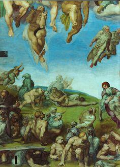 Sixtinische Kapelle, Michelangelo, Jüngstes Gericht, Auferstehung der Toten (Last Judgment, Resurrection of the dead) by HEN-Magonza, via Fl...