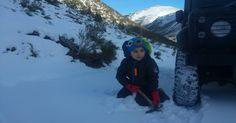 ani4x4 land rover defender snow driving adventure aventura en la nieve #landrover #defender 110