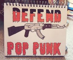 defend pop punk drawing / man overboard