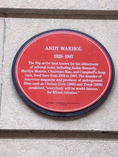 Spotted former home of Pop Culture icon, Andy Warhol at 57 East 66th Street. #CoolFinds  #Manhattan #NYC New York City