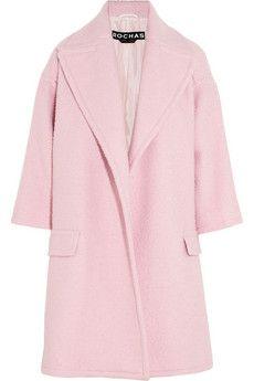 Baby Pink Wool Coat I1JXSK