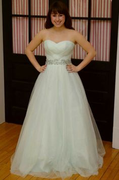 So pretty wedding dress with sparkle