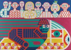 P. Brázda - Závodník a diváci Modern Art, Contemporary Art, 21st Century, Palace, Artists, Painters, Palaces, Artist, Castles
