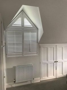 Great Bowden hall clients added plantation shutters to these lovely triangle dormer windows.  If you would like a quote you can book online and choose your own appointment http://ift.tt/1ocfyRO or call us on 01858 456419