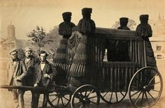 Men with funeral coach. Woolwich, England, c.1880.