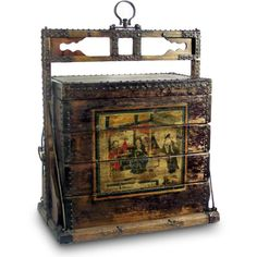 Find it at the Foundary - Vintage Wooden Chinese Wedding Trunk
