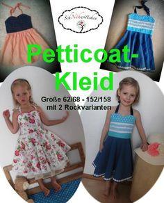 Schnähwittchen Neckholder petticoatkleid mit 2 rockvarianten 62-158 - Anleitung…
