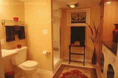 Laundry Rm. in Master Bath
