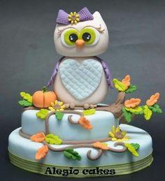 Owl cakeFondant Owl Cake Topper Owl Cake birthday party girl boys kids kid chil children Owls Owl hibou gateau