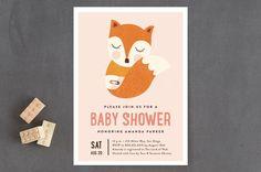 Sleepy Fox Baby Shower Invitations by Erica Kryste... | Minted