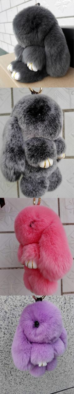 dc65c18e9b Cute fluffy bunnies rabbits small charm keychain phone charm bag charm  Wonder Zoo