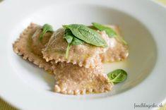 Wholegrain ravioli with ricotta and spinach #zdraveachutne www.foodblogerka.sk