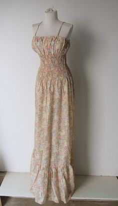 Vintage 1970s Festival Floral Prarie Maxi by hipandvintage on Etsy