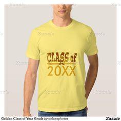 Golden Class of Year Grads T Shirt
