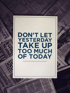 A3 'Dont Let Yesterday' Risograph Print by boltanski on Etsy. £6.00, via Etsy.