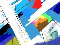 Light passages. Alan Jenkins iPad Art 2014.
