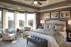 90 Comfortable Master Bedroom Decor Models For Your Home 5 ~ Top Home Design Master Room, Master Bedroom Design, Dream Bedroom, Home Bedroom, Bedroom Ideas, Bedroom Designs, Master Bedroom Chairs, Master Bedroom Furniture Ideas, Bed Designs