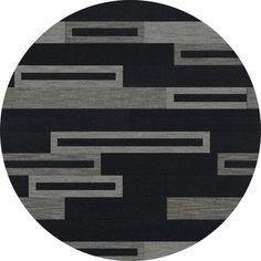 Dalyn Rug Co. Bella Black/Gray Area Rug Rug Size: Round 12'