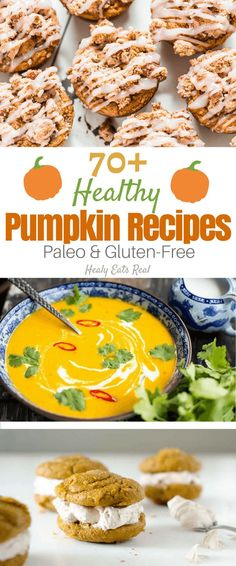 Paleo Pumpkin Recipes (Gluten-Free)-- This collection of delicious healthy paleo pumpkin recipes features everything from savory snacks to dinner to dessert and more! You can learn how to make your own easy fresh pumpkin puree (by learning the basics Best Paleo Recipes, Whole Food Recipes, Recipes Dinner, Fall Recipes, Cooking Recipes, Favorite Recipes, Fresh Pumpkin Recipes, Pumpkin Dinner Recipes, Savory Snacks