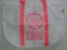 Victoria Secret University Of Pink Tote Bag White/pink $5.99