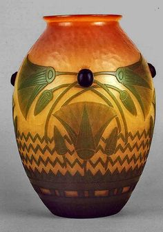 Egyptian Art Deco Vase