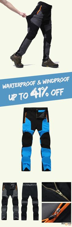 US$39.99+Free shipping. Size(US): S~2XL. Material: 97% Polyester + 2% Spandex. Color: Blue, Dark Gray. Windproof, Waterproof, Breathable, Quick-drying. Your best choice for Hiking, Climbing, Traveling, skiing and any kinds of outdoor activities. Men's Pants, Long Pants, Men's Fashion.