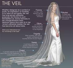 Wedding Infographic. Planning Information. Types of veils