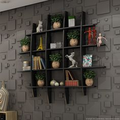 🌟 💖 🌟 💖 Decoration for small apartments wall shelves for living room Wall Rack Design, Tv Wall Design, Bookshelf Design, Wall Shelves Design, Unique Wall Shelves, Wall Shelf Decor, Ethnic Home Decor, Indian Home Decor, Home Decor Furniture