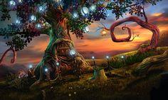 #Game #gameart #gaming #gamedev #gamedevelopmentart #madheadgames #art #artwork  #tree #lantern #pearl