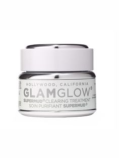 SKIN GlamGlow SuperMud Clearing Treatment. Stressful weeks, really fun weekends—no matter why your skin broke out, this creamy clay helps. It pulls oil, pollutants, and dirt out of pores with charcoal, then brightens all over with exfoliating alpha and beta hydroxy acids.