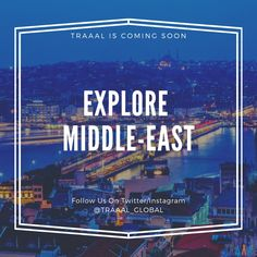 Explore Middle-East With #Traaal (^_^) We are Coming Soon!  #FollowUs and #StayTuned for updates :) #travel #middleeast #turkey #ilovetravelling #startups #business #tours #tourists #travellers #tours #vacations #destinations #paradise #amazing #photography #onlinetravelagency #arab #arabworld #arabs #arabic #subscribe #world #beauty #ilovenature #nature #tourism #comingsoon