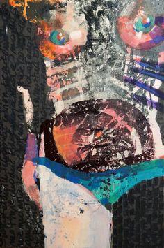 "Artist: Kasia Gawron; Acrylic 2014 Painting ""Standing nude/SOLD"""