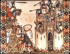 Siège pendant les croisades....
