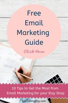 Free Email Marketing Guide for Your Etsy Business - 10 Tips to Get the Most from Your List Free Email Marketing, Email Marketing Campaign, Media Marketing, Win Win Situation, Craft Show Displays, Etsy Business, Way To Make Money, Craft Tutorials, Creative Business