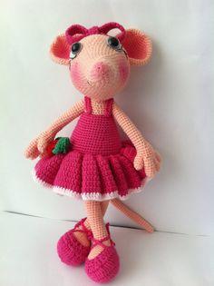 Amigurumi Angelina Ballerina ,amigurumi doll,amigurumi mouse doll,amigurumi mouse ,amigurumi pattern,Crochet Angelina Ballerina on Etsy, 38.70₪