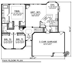 Economical Ranch - 89304AH | 1st Floor Master Suite, Butler Walk-in Pantry, CAD Available, PDF, Traditional | Architectural Designs by sophie