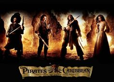 The Infamous Four; Pirates of the Caribbean The Curse of the Black Pearl poster