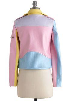 A Spin Around the Colorblock Jacket   Mod Retro Vintage Jackets   ModCloth.com
