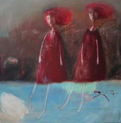 I can't tell you how much I LOVE Anne Patay!!! Upside down (Painting), 80x80x2 cm by Anne PATAY Acrylic and mixed medias