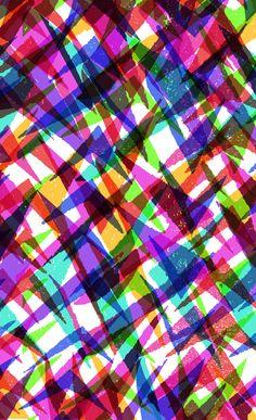 Mashed up chevron pattern - Sarah Bagshaw