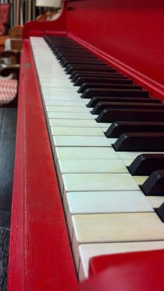 Red piano, Need a red upright ragtime sound piano for downstairs in the studio area.