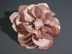 Silk lotus flower tutorial - oooh, we could use this style with the feathers for the hairpiece