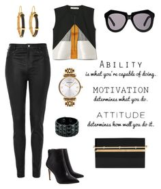 """""""Attitude."""" by schenonek ❤ liked on Polyvore featuring Topshop, Altewaisaome, Emporio Armani, Charlotte Olympia and Karen Walker"""