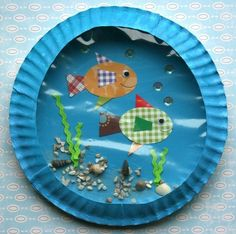 fish aquarium - craft to accompany a book