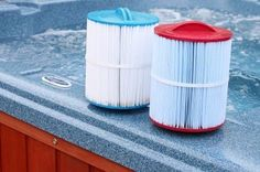 Filters ensure that the water of the spa remains sparkling clean. Every pool owner must have a complete knowledge about the hot tubs and its parts. Cover Guy, Cleaning Hot Tub, Hot Tub Cover, Tub Cleaner, Pool Filters, Me Clean, Swimming Pools, Outdoor Living